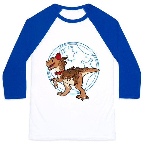 Dinosaur Doctor Who Baseball Tee