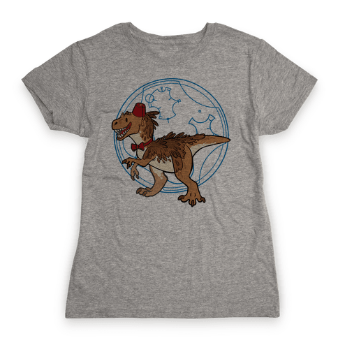 Dinosaur Doctor Who Womens T-Shirt