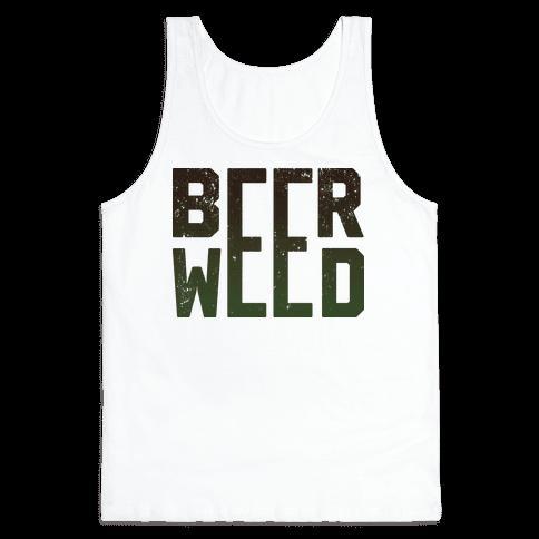 Beer & Weed Tank Top