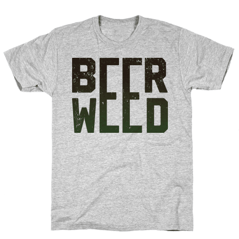 Beer & Weed Mens T-Shirt