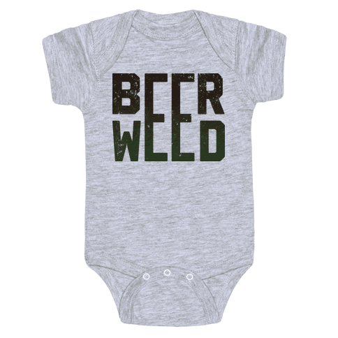 Beer & Weed Baby Onesy