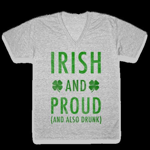 Irish And Drunk V-Neck Tee Shirt