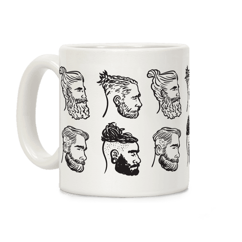 Beards, Braids and Man Buns Coffee Mug