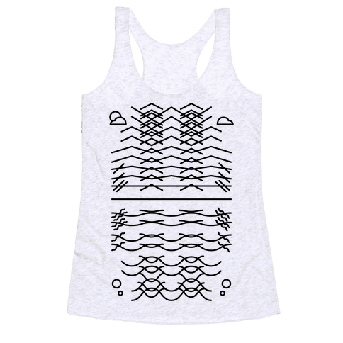 Land And Sea Racerback Tank Top