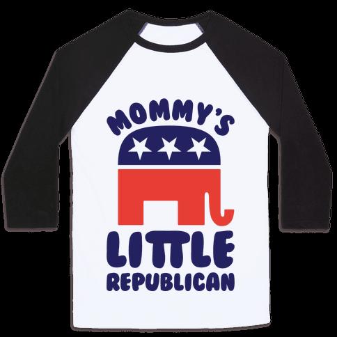Mommy's Little Republican Baseball Tee