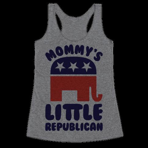 Mommy's Little Republican Racerback Tank Top