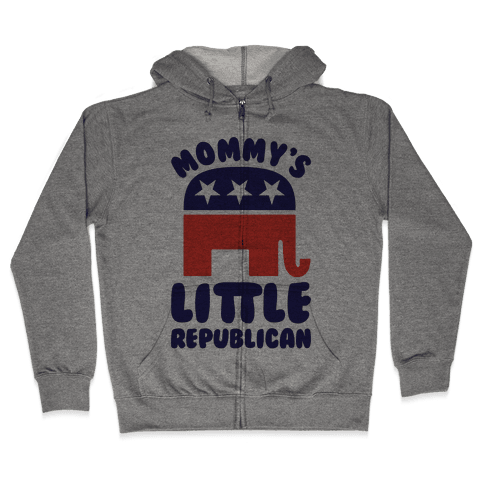 Mommy's Little Republican Zip Hoodie