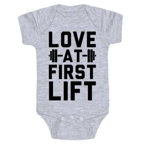 Love At First Lift Baby Onesy