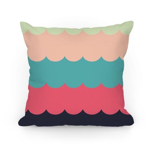 Color Waves Pillow