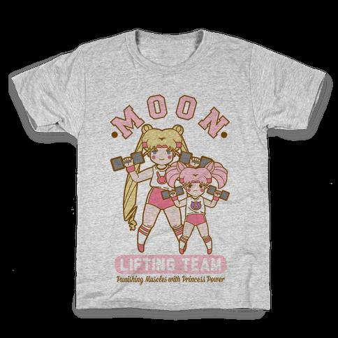 Moon Lifting Team Parody Kids T-Shirt