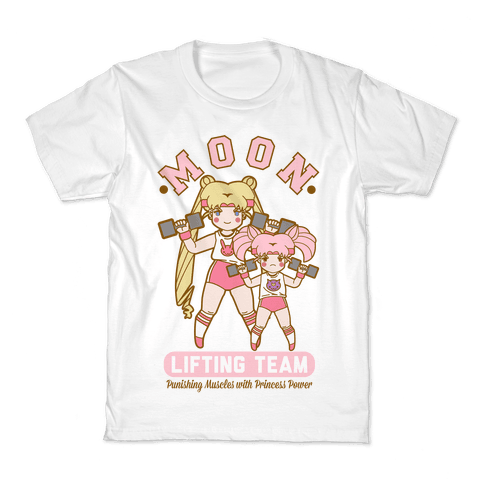 Moon Lifting Team Parody Kids T-Shirt