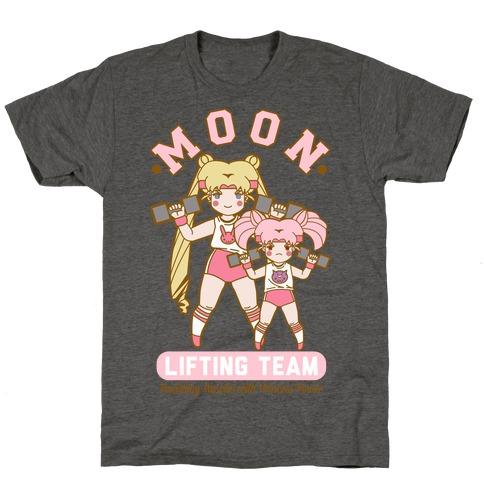 Moon Lifting Team Parody Mens/Unisex T-Shirt