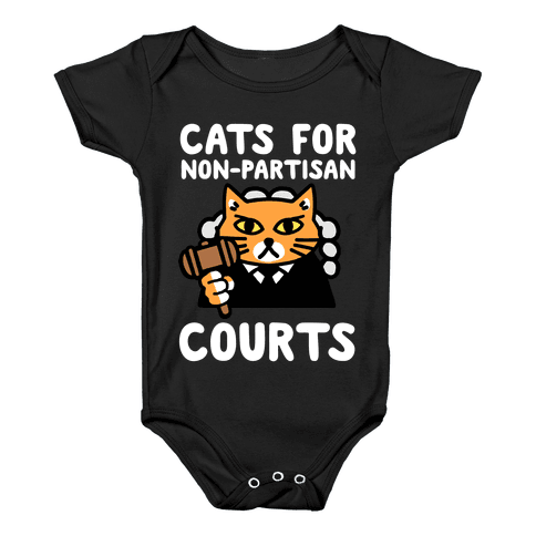 Cats for Non-Partisan Courts Baby Onesy