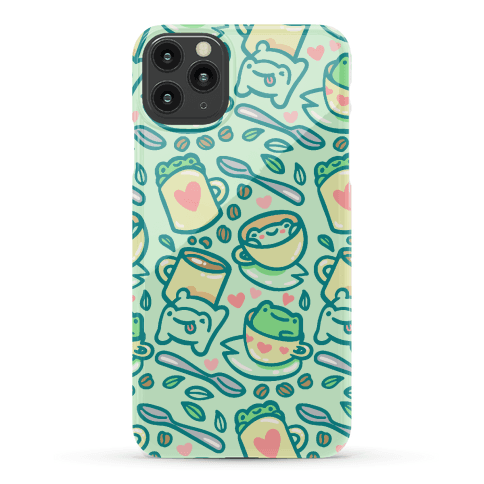 Coffee And Tea Frogs Phone Case