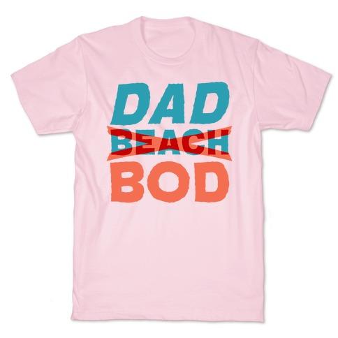 Dad Beach Bod White Print T-Shirt