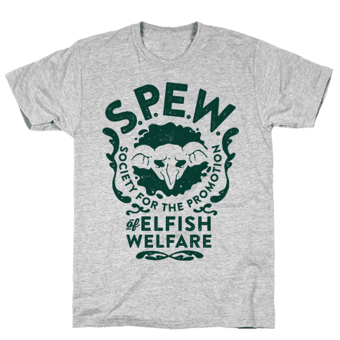 Society for the Promotion of Elfish Welfare (S.P.E.W.) Mens T-Shirt