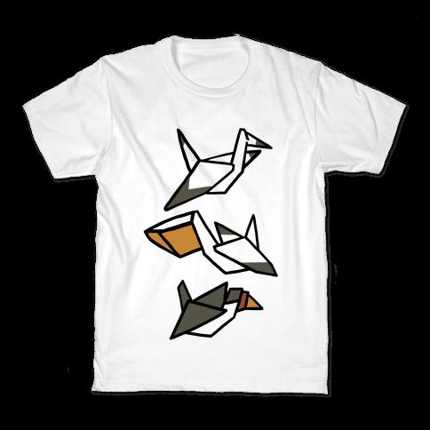 Nautical Origami Seabirds Kids T-Shirt