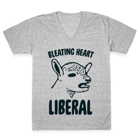 Bleating Heart Liberal V-Neck Tee Shirt