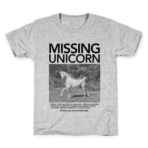 Missing Unicorn Kids T-Shirt