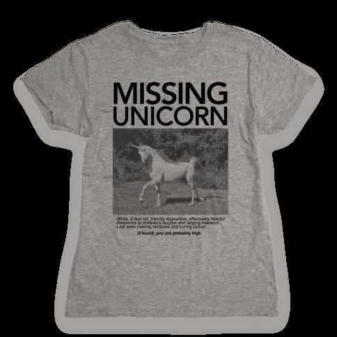 Missing Unicorn Womens T-Shirt
