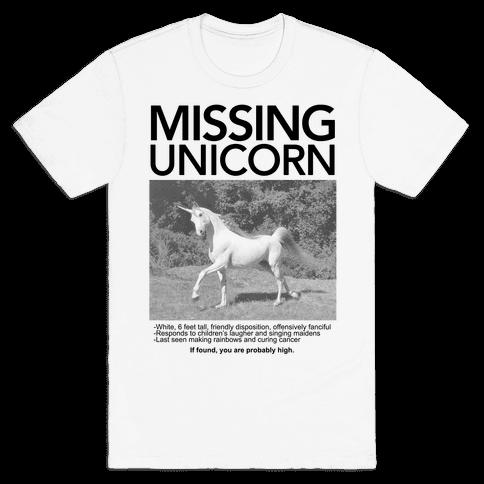 Missing Unicorn Mens T-Shirt