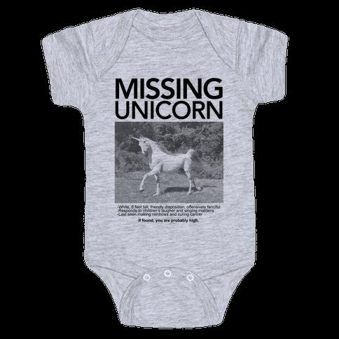 Missing Unicorn Baby Onesy