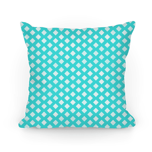 Teal Diamond Pattern Pillow