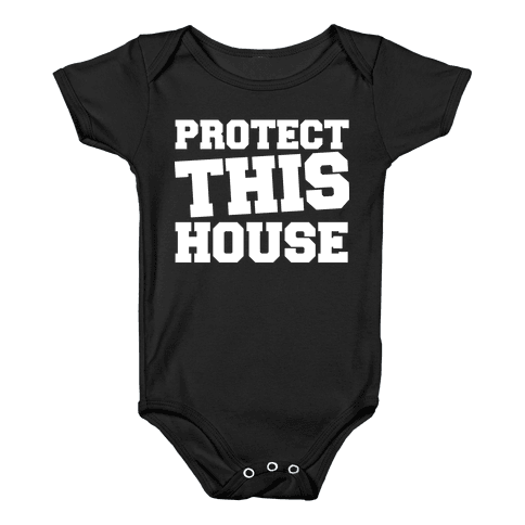 Protect This House Baby Onesy