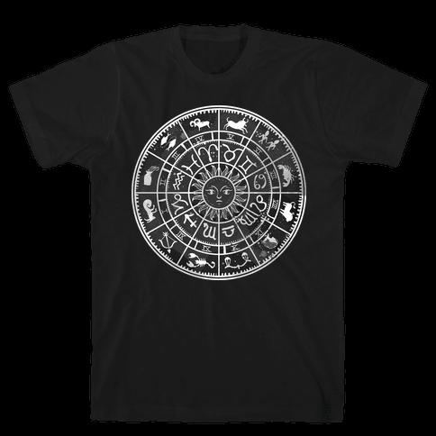 Zodiac Calendar Mens T-Shirt