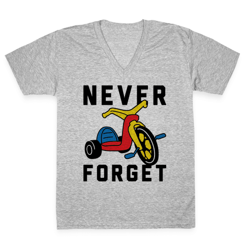 Never Forget Big Wheel V-Neck Tee Shirt