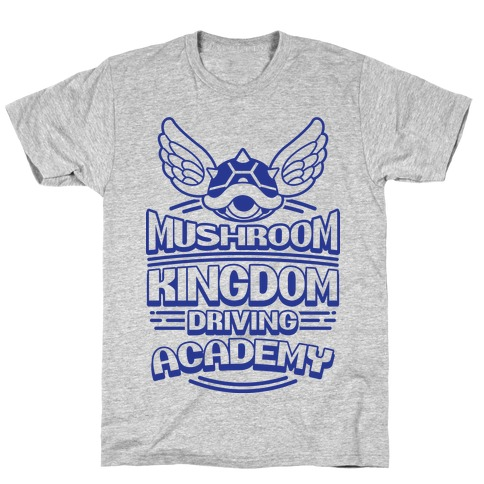 Mushroom Kingdom Driving Academy T-Shirt