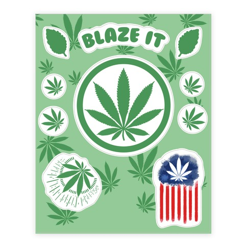 420 Blaze It  Sticker/Decal Sheet