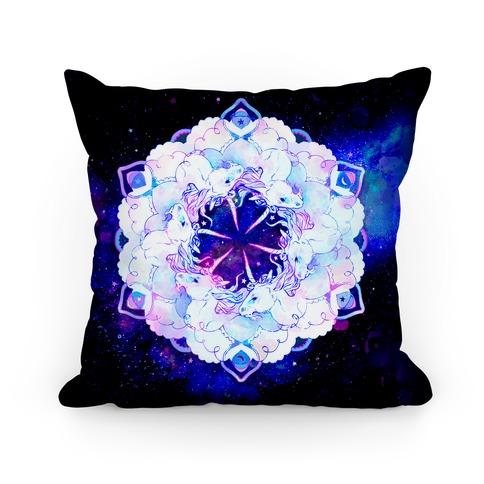Unicorn Space Ring Pillow