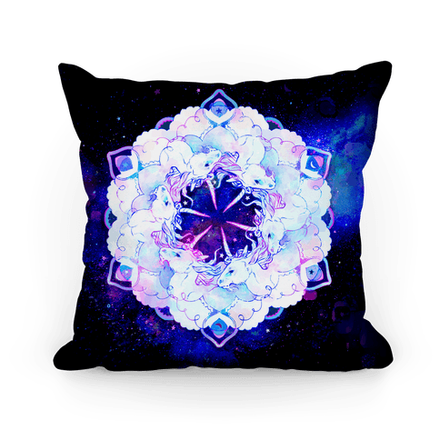 Unicorn Space Ring Pillow