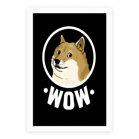 Doge: Wow! Such Design. Poster
