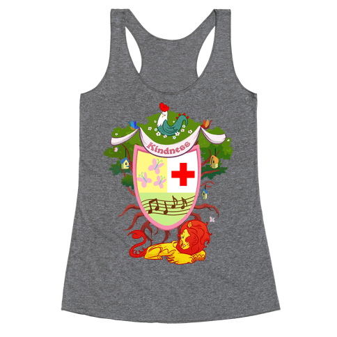 Pony of Kindness Medieval Crest Racerback Tank Top