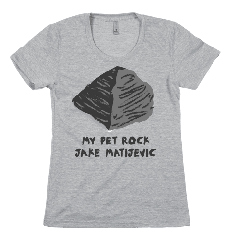 Jake Matijevic the Mars Rover Pet Rock Womens T-Shirt