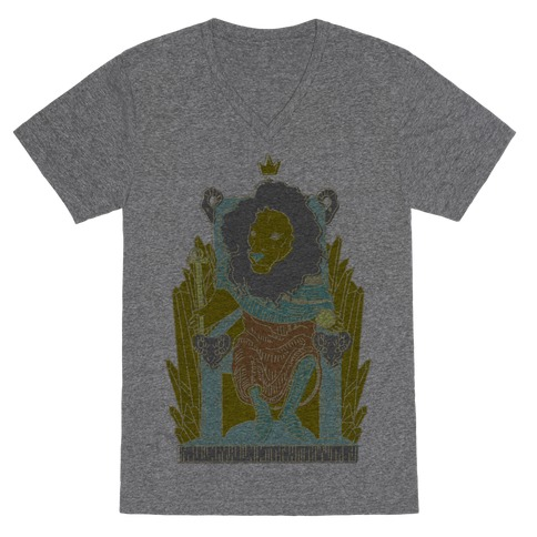 The Emperor Lion V-Neck Tee Shirt