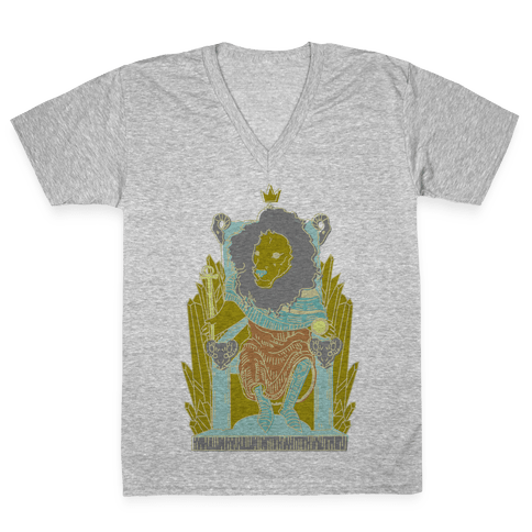 The Emperor Lion V-Neck Tee Shirt
