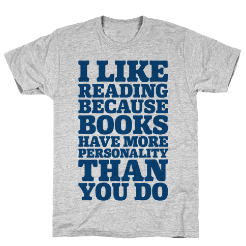 I Like Reading Mens T-Shirt
