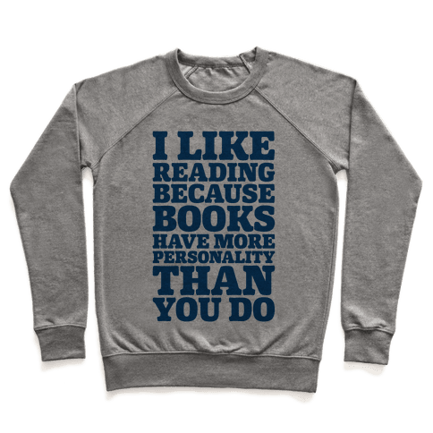 I Like Reading Pullover