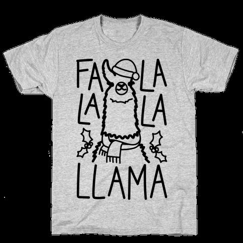 Falalala Llama Mens T-Shirt