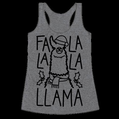 Falalala Llama Racerback Tank Top