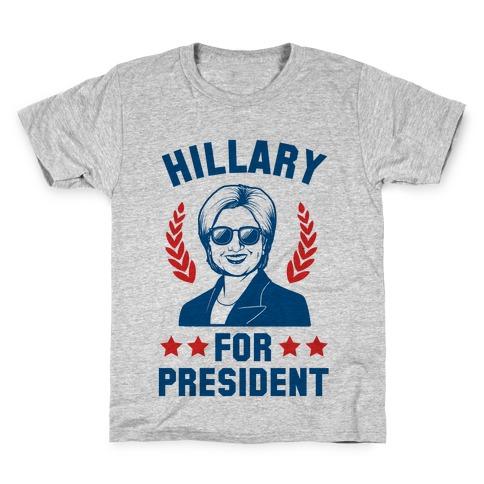 Hillary for President Kids T-Shirt
