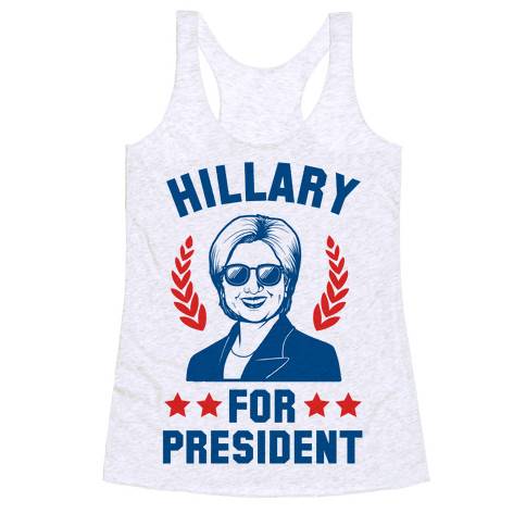 Hillary for President Racerback Tank Top