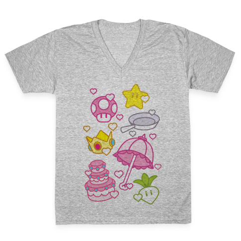 Peach Inventory Items V-Neck Tee Shirt