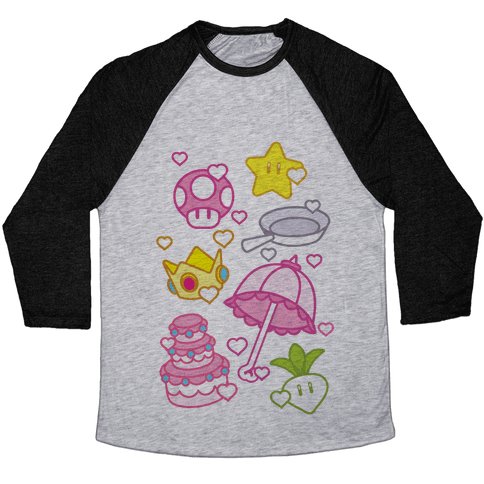 Peach Inventory Items Baseball Tee