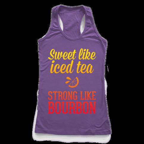 Iced Tea & Bourbon Racerback Tank Top