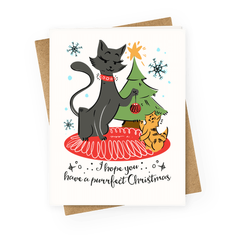 I Hope Have a Purrfect Christmas Greeting Card
