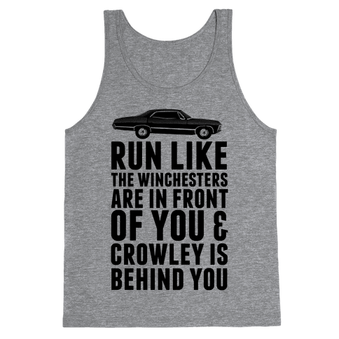 Run Like The Winchesters Tank Top